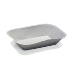 Pulpex 300 Molded Fibre Food Tray Natural - 32 Oz.