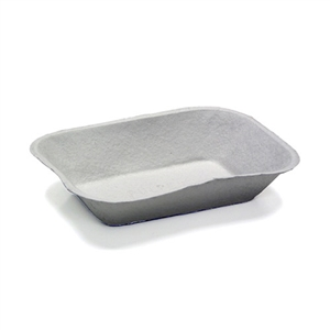 Pulpex Natural Food Tray - 9.13 in. x 6.88 in. x 1.75 in.