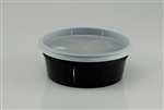 Delitainer Clear Plastic Deli Container with Lid - 8 oz.