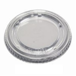 Flat Lid No Straw Slot Clear