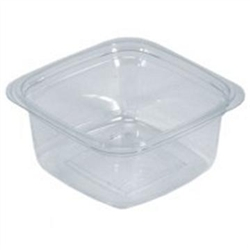 Clear Plastic Square Deli Container - 12 oz.