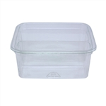 Clear Plastic Square Deli Container - 8 oz.
