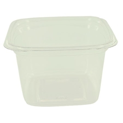 Square Plastic Clear Deli Container - 16 oz.