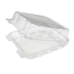 1 Compartment Clamshell Plastic Containers Clear - 8 in. x 8 in.