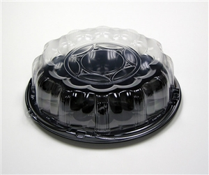Smartlock Caterware Black Flat Tray with Clear Dome - 12 in.