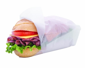 Dry Wax Paper White Sandwich Wrap - 15 in. x 15 in.