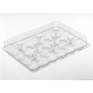 PETE Hinged Muffin Cupcake Container - 16.88 in. x 13.19 in. x 3.5 in.