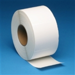 Thermal Transfer Freezer White Adhesive Perforated Label - 4 in. x 6 in.