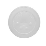 Translucent Polystyrene Flat Lids with Straw Slot