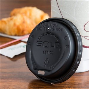 Gourmet Dome Lid Black For 12, 16, 20, 22, 24 Oz. Cup