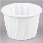 White Waxed Paper Souffle Cup - 0.75 oz.