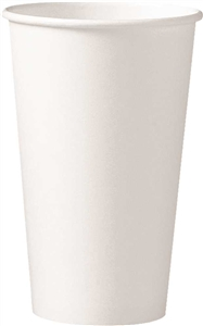 White Single Sided Poly Lined Paper Hot Cup - 16 oz.