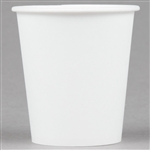Paper Flat Bottom White Treated Water Cup - 3 oz.