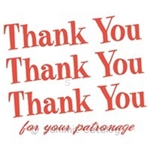 Thank You T-Shirt Tote Bags White with Red - 12 in. x 7 in. x 20 in.