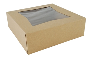 Window Auto Bakery Box Kraft Paperboard - 8 in. x 8 in. x 2.5 in.