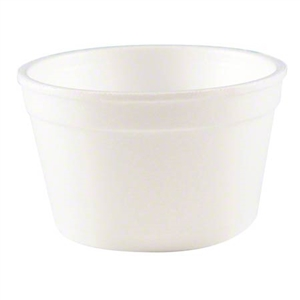 White Space Saver Handi Kup Foam Food Container - 6 oz.