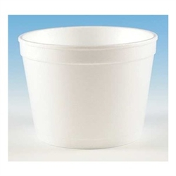 White Foam Food Container - 12 oz.