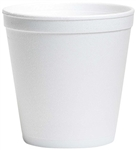 White Regular Foam Food Container - 16 oz.
