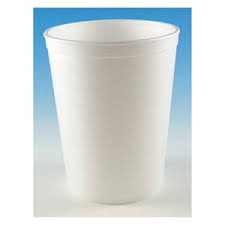 White Foam Food Container - 32 oz.