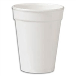 Compac High Sheen White Foam Cup - 12 oz.