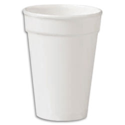 Compac High Sheen White Foam Cup - 16 oz.