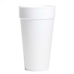 White Compac High Sheen Foam Cup - 20 oz.