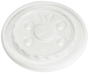 Translucent Straw Slotted Lid for 12 and 24 oz. Foam Cup