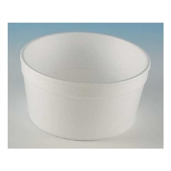 White Food Container - 8 oz.