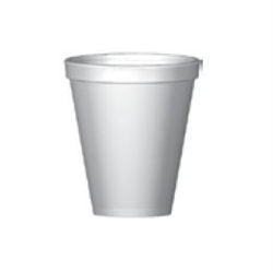 Compac Cup Foam White - 8 Oz.
