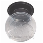 Black Plastic Micro Container and Lid Combo - 32 oz.