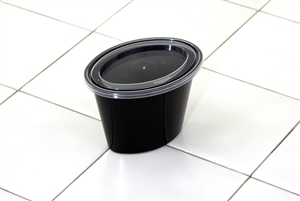 Ellipso Black Portion Cup With Lid - 6 Oz.