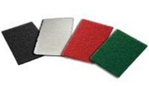 General Purpose Medium Scour Pad Green - 6 in. x 9 in.