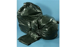 PG6 Recycled LLDPE Black Can Liners Coreless Rolls - 33 Gal.