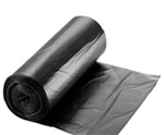 PG6 Recycled LLDPE Black Can Liners Coreless Rolls - 40-45 Gal.