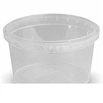 Ring Lock Plastic Container Clarified - 8 Oz.
