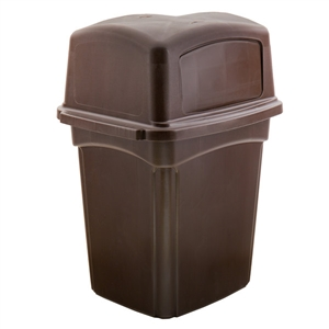 Colossus Receptacle Wth Two Doors Trash Container - 45 Gal.