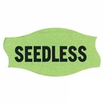 Seedless Label Fluorescent Green - 1.56 in. x 0.81 in.