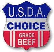 Usda Choice Shield Label Red,White And Blue - 1.75 in. x 1.5 in.