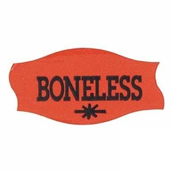 Boneless Label Red Day-Glo - 1.56 in. x 0.81 in.