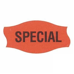 Special Label Red Day-Glo - 1.56 in. x 0.81 in.