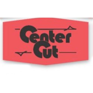Center Cut Label Red Day-Glo - 1.38 in. x 0.88 in.