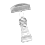 Clear Clip On Plastic Sign Holder - 4 in.