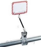 Clip-On Extended Sign Holder White Knuckle - 6 in.