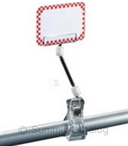 1602 Clip On Extended Plastic Sign Holder - 6 in.
