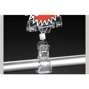 4022 Clip On Spring Clear Sign Holder - 4 in.