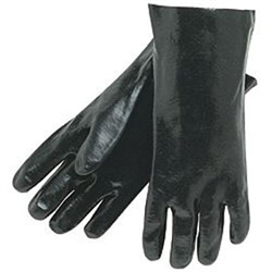 Pvc Coated Smooth Finish Economy Black Glove