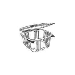 Hinged Deli Container Apet Clear - 7.25 in. x 6.38 in. x 2.63 in.