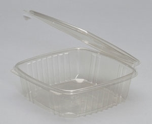 Clear Apet Hinged Deli Container - 48 oz.