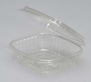 Deli High Dome Clear Hinged Lid - 7.25 in. x 6.38 in.
