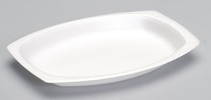 Celebrity Foam Non Laminated White Platter - 7 in. x 9 in.